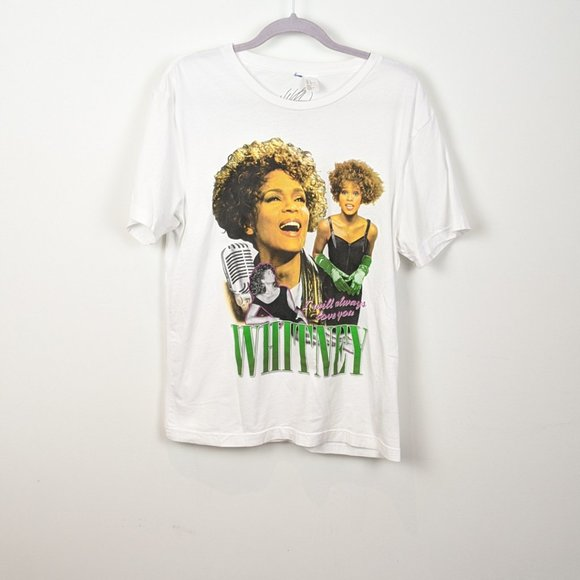 Whitney Houston Retro T Shirt medium